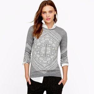 J. Crew merino scarf sweater Size Medium